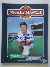 MICKEY MANTLE YANKEES 2401 GAMES SIGNED BECKETT (BAS) 10 GEM MINT BOOK AUTOGRAPH