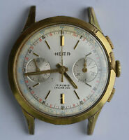 1950 HEMA Manual Wind CHRONOGRAPH Swiss WRIST WATCH 37mm case Landeron 248 RUNS