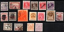 stamp MAGYAR POSTA  A9(2) A10 A11(4) A13(2) A59 A75 A76 A79 O1(2) N5(2) (1900-19