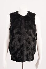 French Connection Women's Vest Black Faux Fur Nala Gilet Festival Boho SZ 2 XS