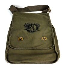 AUTHENTIC PIGMENT DYED CANVAS 100% COTTON MESSENGER BAG WITH FRONT LOGO