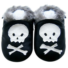 Free Shipping Littleoneshoes SoftSole Leather Baby Infant SkullFur Shoes 24-30M