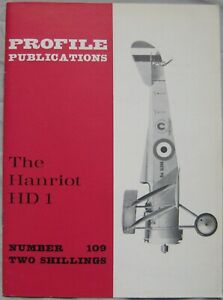 Aircraft Profile Publications magazine Issue 109 Hanriot HD 1