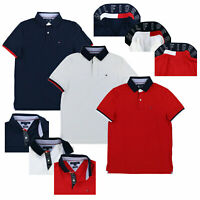 Tommy Hilfiger Mens Polo Shirt Custom Fit Mesh Collared Short Sleeve Casual New