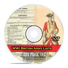 End WWI British Army Lists, 1916-1919, 39 Books British Military PDF DVD E77
