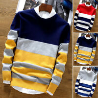 Men's Fashion Stylish Korean Warm Knitted Sweater Pullover Tops Knitwear