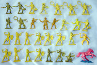 Cowboys & Indians, Army of 30 Plastic Toy Soldiers, 54mm