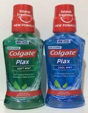 2x Colgate Plax - Cool Mint & Soft Mint - Mouthwash - Alcohol Free 2x 250ml