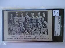 sgc 10 /1 1907 postcard tecumseh michigan champs fred merkle only graded