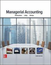 Managerial Accounting by Phillips, Whitecotton, Libby 3rd Edition 2017 Harccover