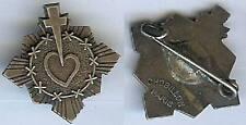 Religion - Croix coeur couronne d'épine