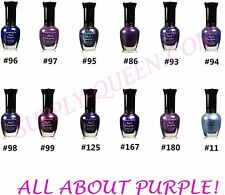 Kleancolor All About Purple Collection Nail Polish Lot of 12 Colors Set Lacquer