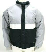 Colorado Classics Vintage Men's Goose Down Puffer Jacket Size Small Black Gray