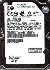 Hitachi HTS725025A9A364 MLC : da3212 P/N: 0a72332 250GB SATA a21-09