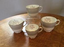 Wedgwood FOUR Grey Friar Pink pear shape bone china cups only W3761 AS IS