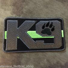 The Thin Green Line K9 Patch, Border Patrol, Game Wardens, Federal Agents