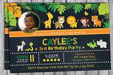 SAFARI INVITATION Birthday Party Supplies Jungle Animals Baby Shower Chalkboard