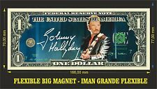 Johnny Hallyday IMAN BILLETE 1 DOLLAR BILL MAGNET