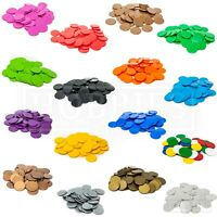 22mm Counters Plastic Tiddly Winks Opaque Board Game White Blue Green Black