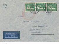 Nr 19865 Luftpost Brief Deutsches Reich Zeppelin Südamerika Fahrt - Brasilien 2