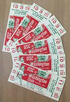 VINTAGE 1969 WASHINGTON STATE COUGARS @ USC TROJANS FOOTBALL FULL TICKETS (6)