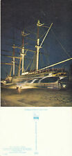 1980's THE CUTTY SARK FLOOODLIT IN GREENWICH UNUSED COLOUR POSTCARD