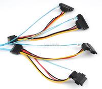 2xSATA Power15-pin Cable With Mini SAS 36P SFF-8087 to 4 SFF-8482 Connectors 1M