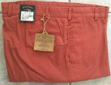 NWT-Bills Khakis Red M2-WRPB Plain Front POPLIN Size 34 Weathered Red $165
