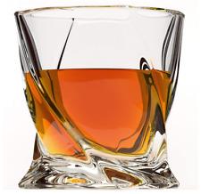Whiskey Glass 4 Pack Premium Lead Free Crystal Glasses Twist Tasting Tumblers