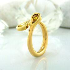 Ring in 750 Gelbgold18K mit 2 Diamanten in gelb und cognac ca 1,00 ct Gr. 53
