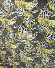 HYBRID ZEBRA LEOPARD FLEECE PRINTED FABRIC FH-193 BABY BLANKET ANIMAL BY YARD