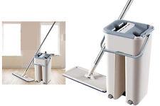 Flat mop 3 in 1 mocio pavimenti secchio microfibra pulizia lava pavimenti casa