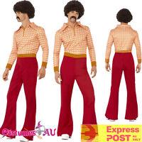 Mens 70s 60s Authentic Guy Hippy Hippie Dance Disco Woodstock Retro 70's Costume