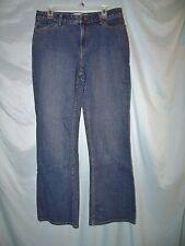 Fashion Bug Stonewashed Blue Denim Cotton Blend Jeans Sz 14 Classic Rise I32 W34