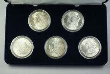 1898-O 1899-O 1900 1901-O 1902-O BU UNC Morgan Silver Dollar Set in Box (JAB)