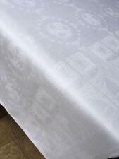 Antike rechteckige Tischdecken aus Halbleinen