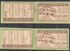 TIMBRES ALGERIE - 2 CARNETS DE 20 TIMBRES - Nombreuses publicités