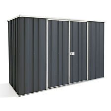 Cheap Shed 2.8m x 1.07m Flat Roof Dbl Dr Colour Garden Shed