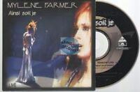 Mylene Farmer Ainsi Soit Je - Live Cd Single Card Sleeve
