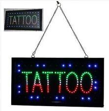 TATTOO Flashing Sign Bright Colour LED Light Shop Display Piercing Body Ear