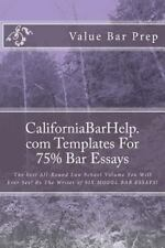 CaliforniaBarHelp. Com Templates for 75% Bar Essays : The Best All-Round Law...