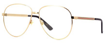 *NEW AUTHENTIC* GUCCI GG0138S 003 GOLD FRAME, TRANSPARENT LENS SIZE 61mm