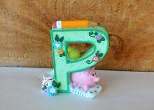 Mary Engelbreit Green Shelf Sitter Letter P Pencil Pear Pink Pig Pillow Pitcher