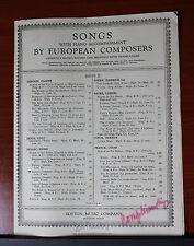 1914 Lament / Lamento by Henri Duparc English/French vocal & piano sheet music