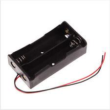 Power bank 2 18650 Battery Holder Plastic Battery Holder Storage Black Box Case