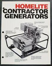 Homelite Contractors Generators Dealer Sales Brochure