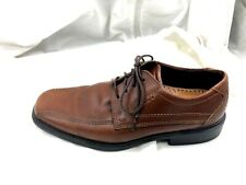 Ecco Mens 8M 40 41 brown bicycle toe oxfords laceup dress formal shoes