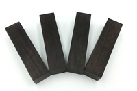Africa Ebony Knife Handle Scales Blanks -- 2 PIECES -- , DIY Wood Material