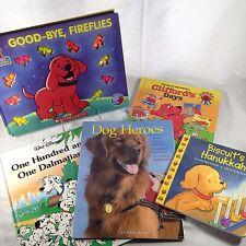 Lot 5 DOG books children's kid's Clifford 101 Dalmatians Heros Biscuit canine