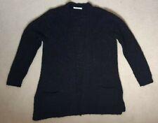 women's black knitwear cardigan top size 20 large loose fit